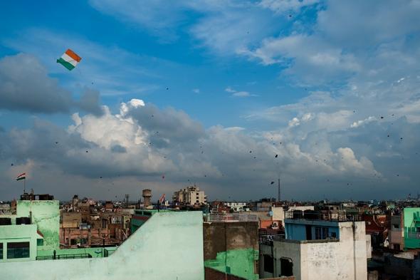 Kite flying at Jama Masjid