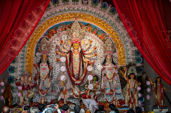 Durga Puja at GK 2